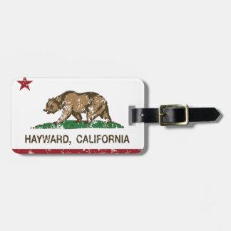 California State Flag Hayward Luggage Tag