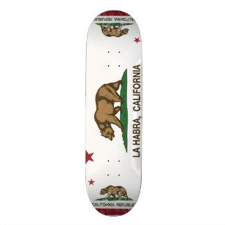 California State Flag La Habra Skate Board