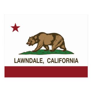 California State Flag Lawndale Postcard