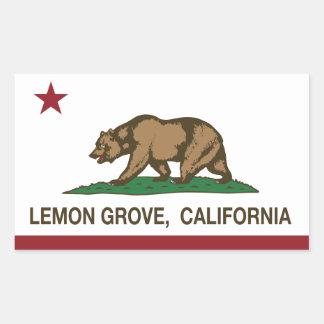 California State Flag Lemon Grove Sticker