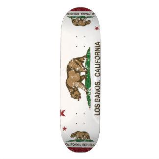 California State Flag Los Banos Custom Skate Board