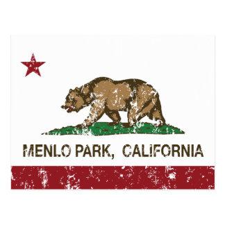 California State Flag Menlo Park Postcard