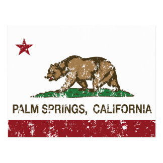 California State Flag Palm Springs Postcard