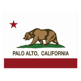 California State Flag Palo Alto Postcard