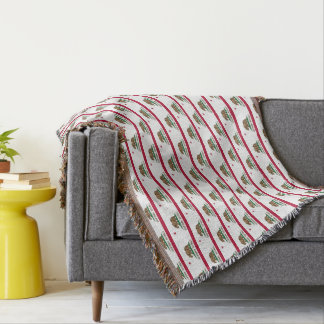 California state flag pattern woven throw blanket