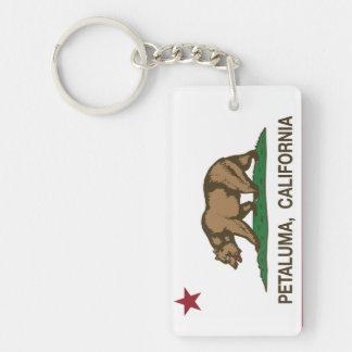 California State Flag Petaluma Keychain