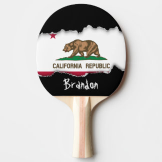 California State Flag Ping Pong Paddle