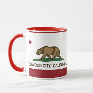 California State Flag Redwood City Mug