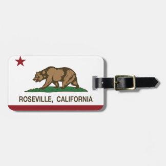 California State Flag Roseville Bag Tag