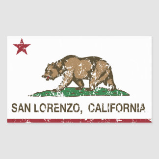 California State Flag San Lorenzo
