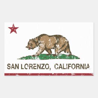 California State Flag San Lorenzo Sticker