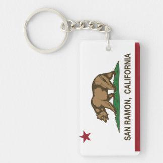 California State Flag San Ramon Keychain