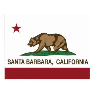California State Flag Santa Barbara Postcard