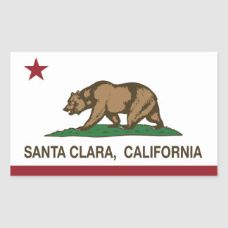 California State Flag Santa Clara Sticker