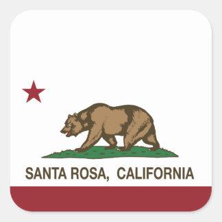 California State Flag Santa Rosa Square Sticker