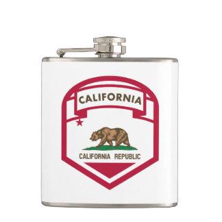 California State flag shield Hip Flask