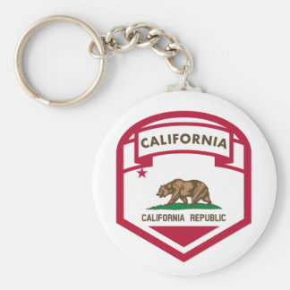 California State flag shield Keychain