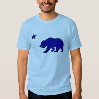 California state flag symbol blue bear guys tee