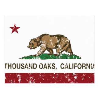 California State Flag Thousand Oaks Postcard