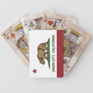 California State Flag Union City Poker Deck