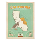 California State Map | The Golden State Postcard