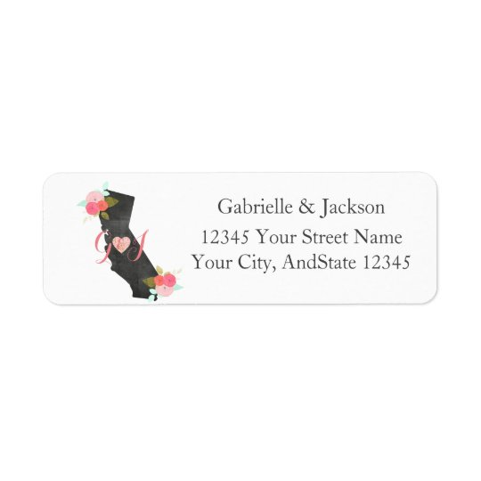 California State Monogram return address label