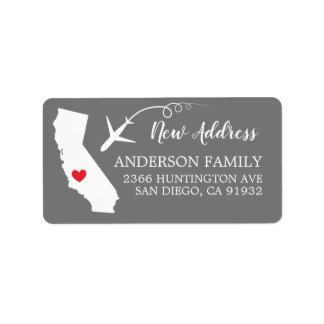 California State | New Home Return Address Label
