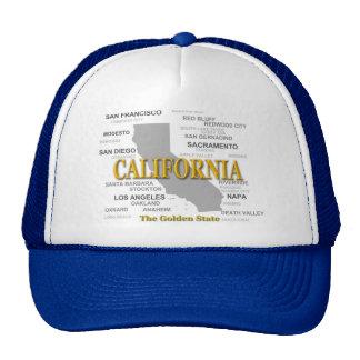 California State Pride Map Silhouette Hat