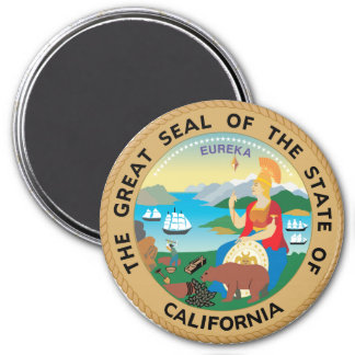 California State Seal 3 Inch Round Magnet