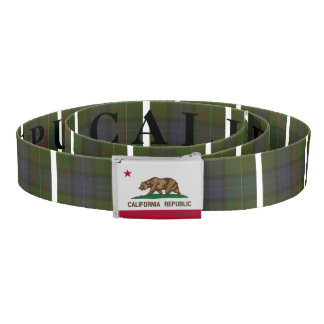 California State Tartan and Flag Belt