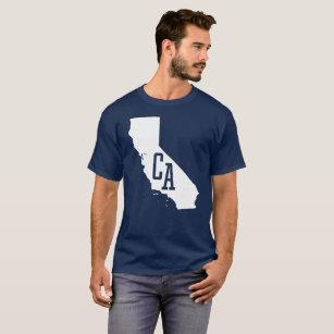 California State White Map Men's Dark T-Shirt
