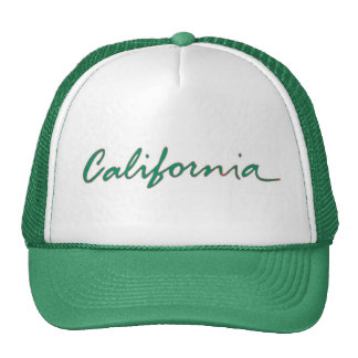 California state writing green theme hat