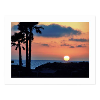 California Sunset at Oxnard Beach....Relax & Enjoy Postcard