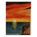 California Sunset over the Pacific Ocean Postcard