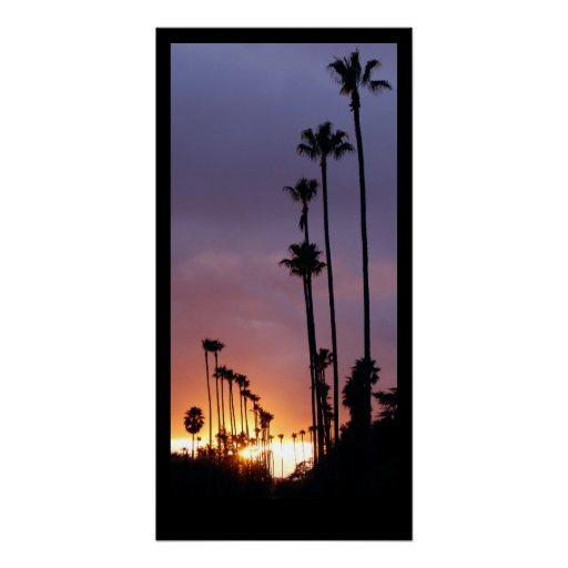 California Sunset Palms Poster / Customize This!
