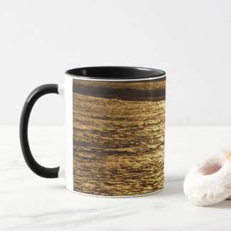 California Sunset Waves Abstract Nature Photograph Mug