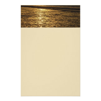 California Sunset Waves Abstract Nature Photograph Stationery