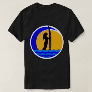 California Sunset with Surfer Girl T-Shirt