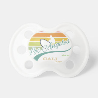 California surf illustration, t-shirt graphics baby pacifiers