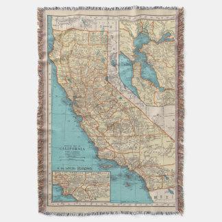 California Surf Map Blanket