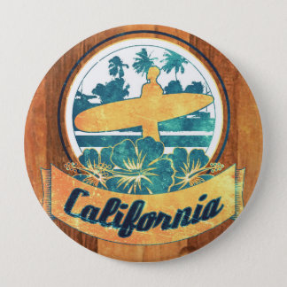 California surfboard 4 inch round button
