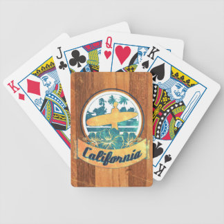 California surfboard bicycle playing cards