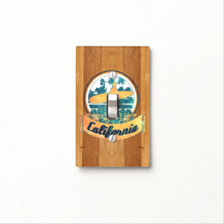 California surfboard light switch cover