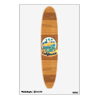 California surfboard wall sticker