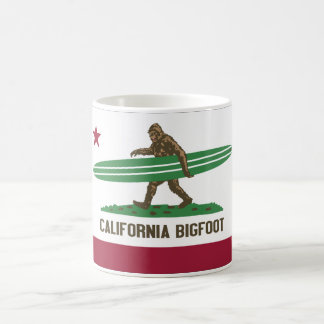 California Surfing Bigfoot Longboard Coffee Mug