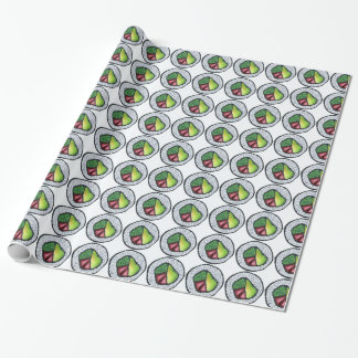 California Sushi Roll Japanese Food Rolls Wrap Wrapping Paper