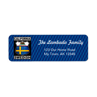 California Swedish American Address Labels