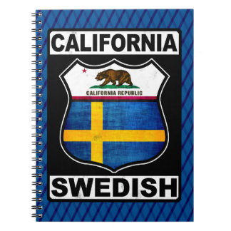 California Swedish American Notepad Spiral Notebook