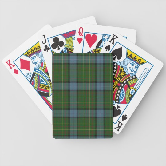 California Tartan Plaid Poker Deck