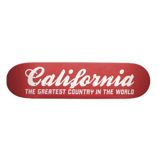 california the greatest country in the world skateboard decks